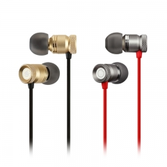 Earbuds with microphone, GGMM In-ear Earphones Full Metal Ear Buds Headphones with Mic In-Line Control Universal for iPhone, Samsung, Nightingale Gold